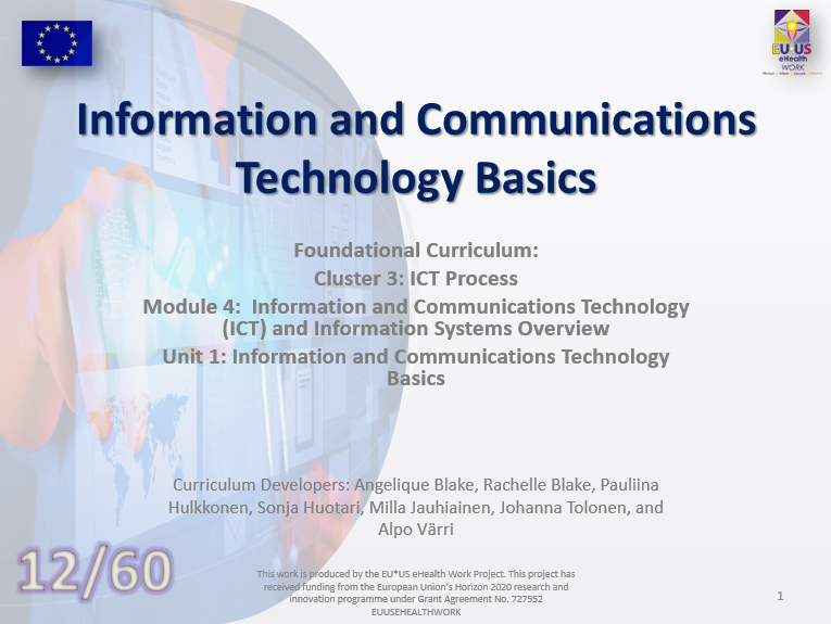 Unit 12: Information and Communications Technology Basics