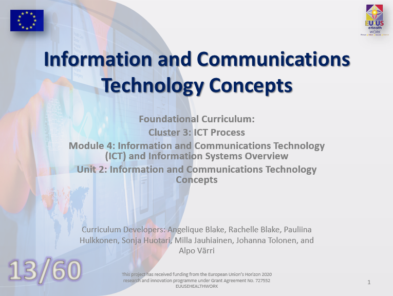 Unit 13: Information and Communications Technology Concepts