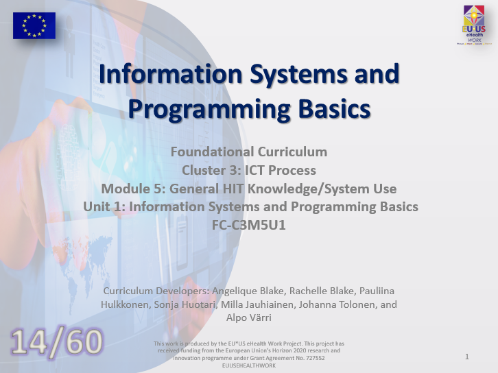 Unit 14: Information Systems and Programming Basics