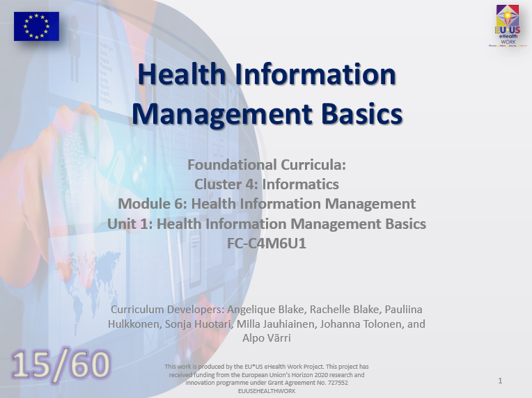 Unit 15: Health Information Management Basics