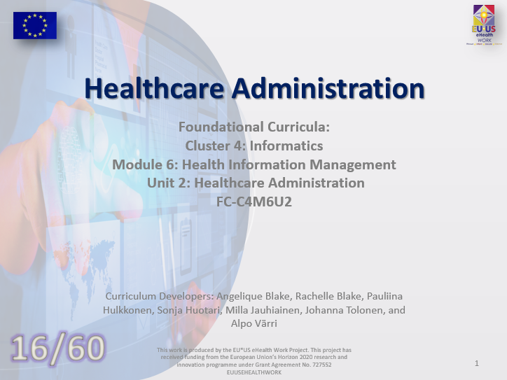 Unit 16: Healthcare Administration