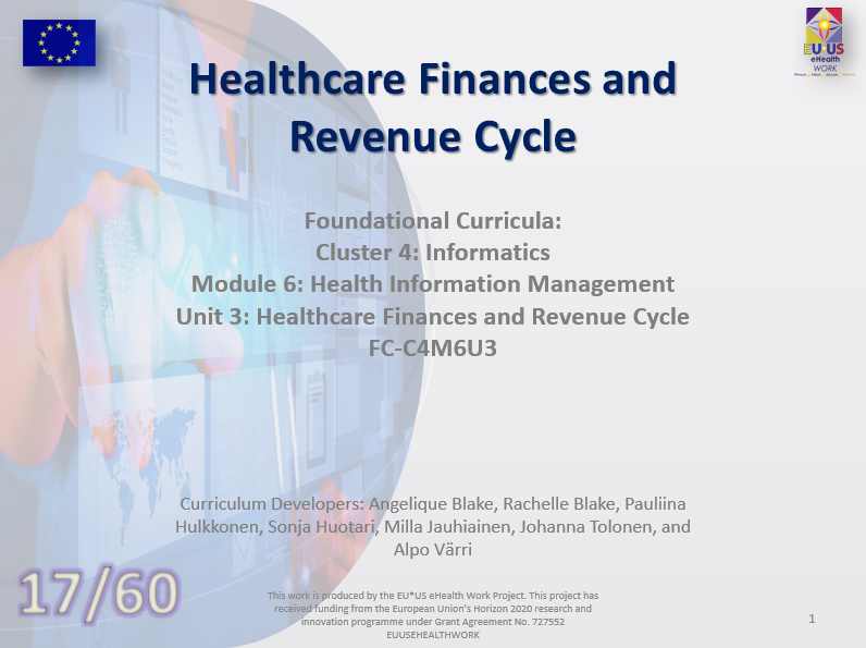 Unit 17: Healthcare Finances and Revenue Cycle