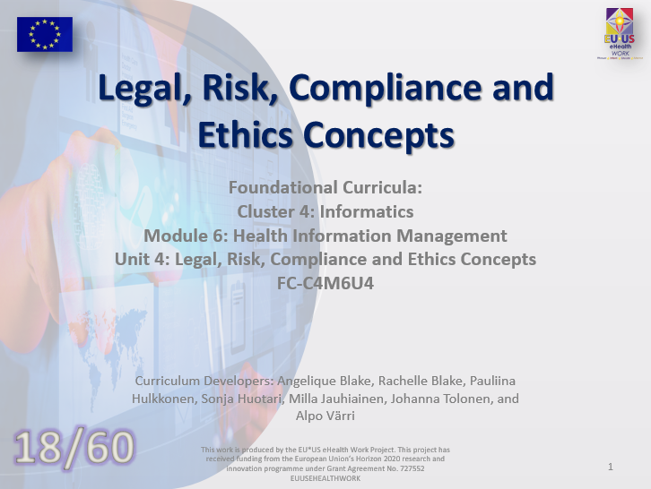 Unit 18: Legal, Risk, Compliance and Ethics Concepts