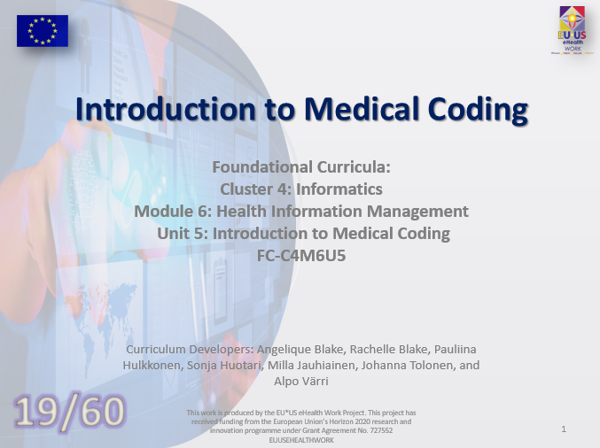 Unit 19: Introduction to Medical Coding