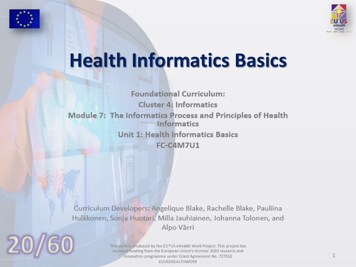 Unit 20: Health Informatics Basics