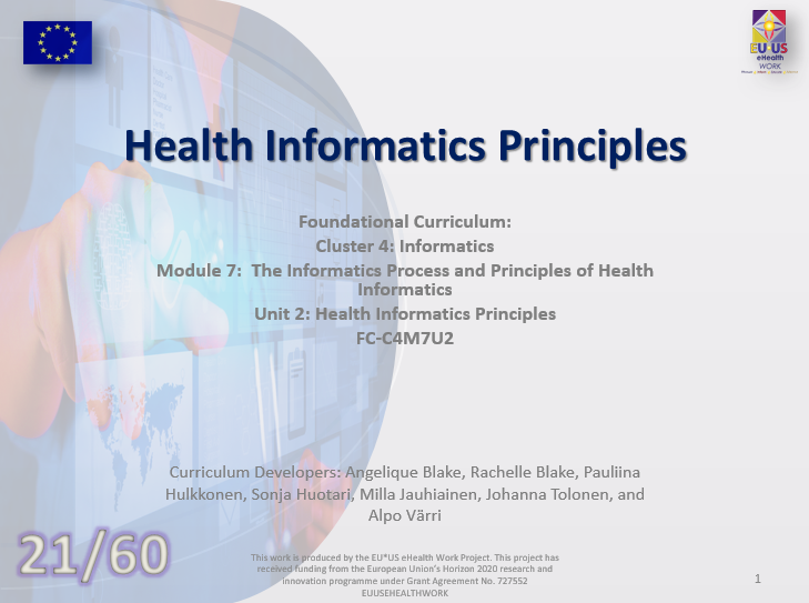 Unit 21: Health Informatics Principles