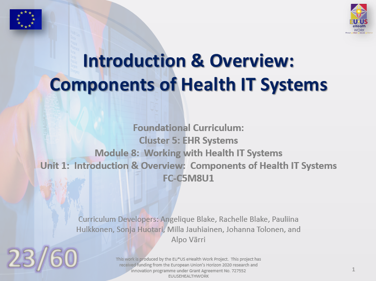 Lesson 23: Components of Health IT Systems