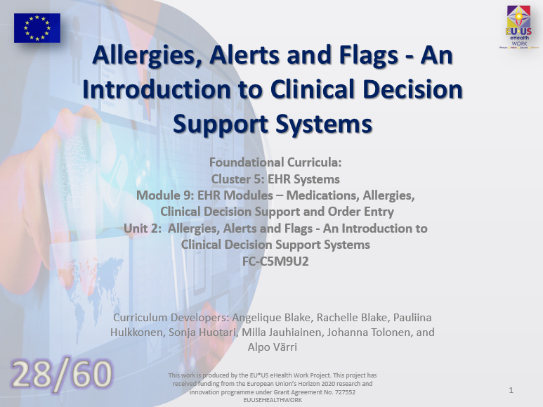 Lession 28: Allergies, Alerts and Flags