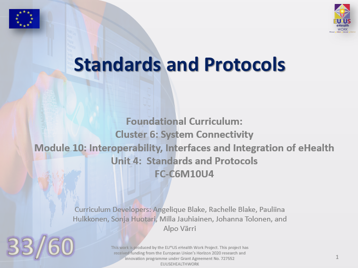 Lesson 33: Standards and Protocols