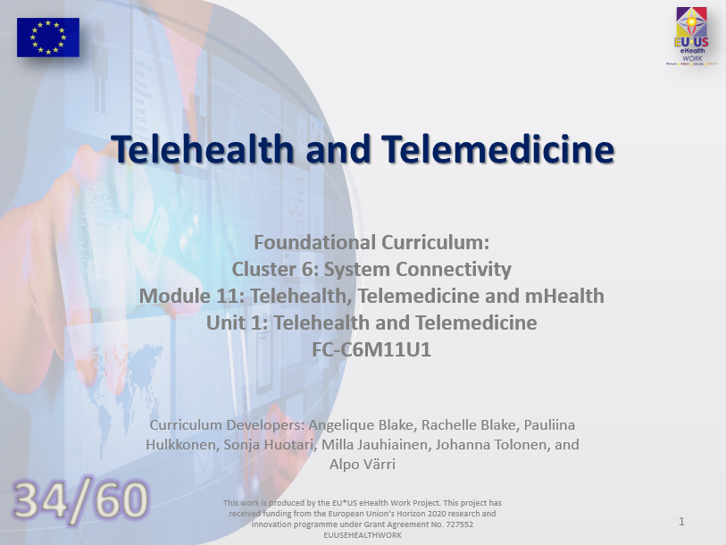 Lesson 34: Telematics and Telehealth